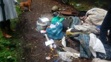 Ktoś wysypał śmieci w lesie. Nazwisko sprawcy w stosie papierów?
