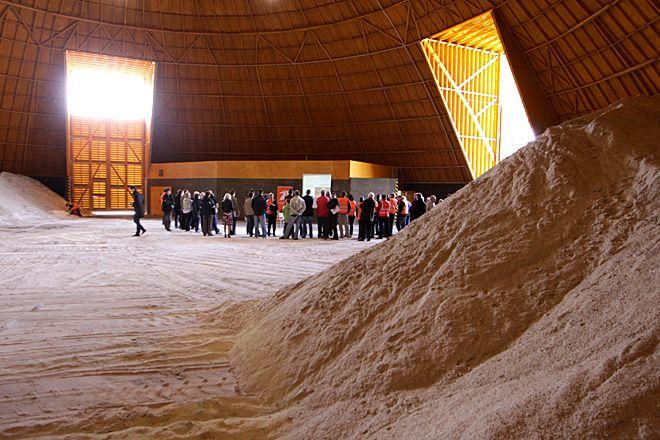 Magazyn z solą w Obwodzie Utrzymania Autostrady w Świerklanach