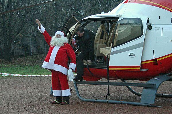 Rok temu Mikołaj przyleciał do Rybnika helikopterem
