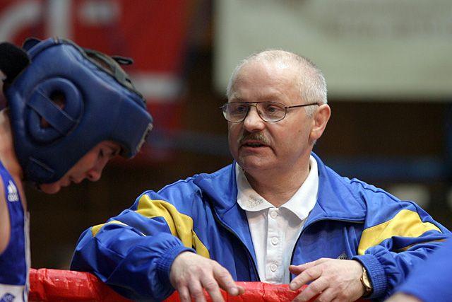 Mateusz Mazik z trenerem Anatolem Jakimczukiem