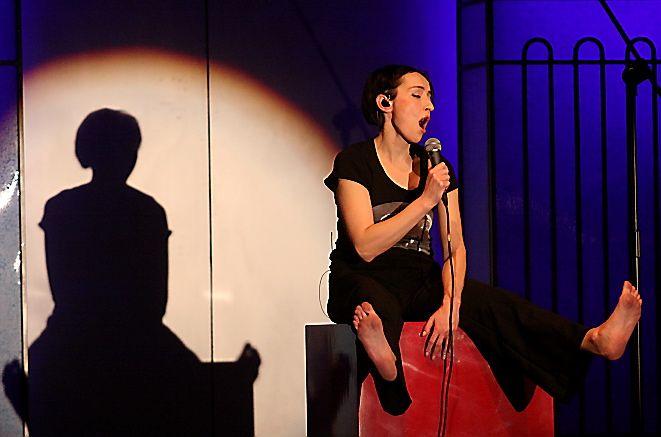 Katarzyna Groniec podczas koncertu OFPA 2010 w Klubie Energetyka