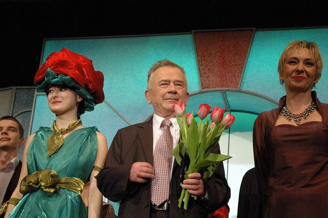 Wojciech Bronowski podczas swojego benefisu