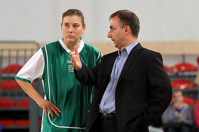 Laurie Koehn z trenerem Mirosławem Orczykiem.