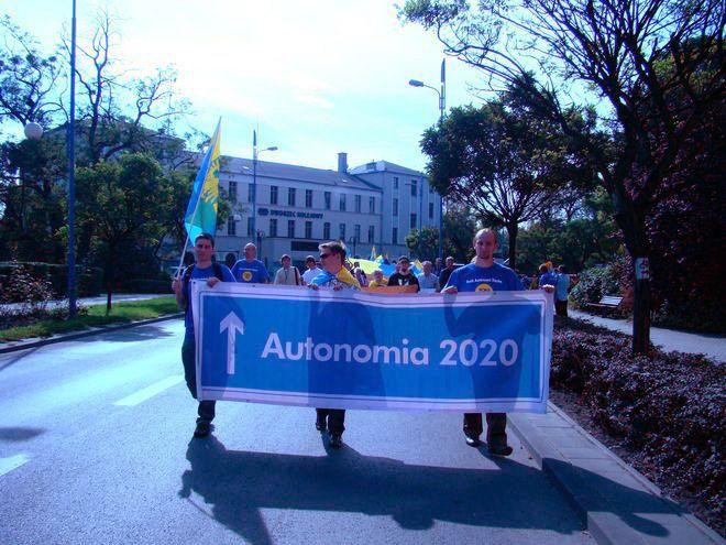 Marsz Autonomii Śląska zostal zorganizowany w Rybniku po raz pierwszy