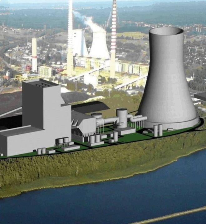 Wizualizacja mającej powstać elektrowni