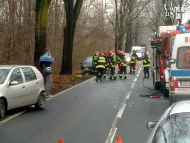 Zdjęcia z wypadku nadesłał nam jeden z naszych czytelników.