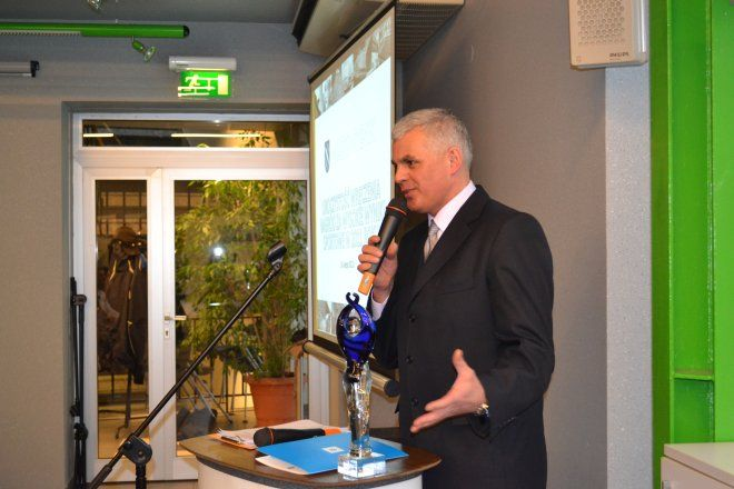 W imieniu Mariusza Prudla wyróżnienie odebrał Roman Pinoczek - prezes TS Volley Rybnik.