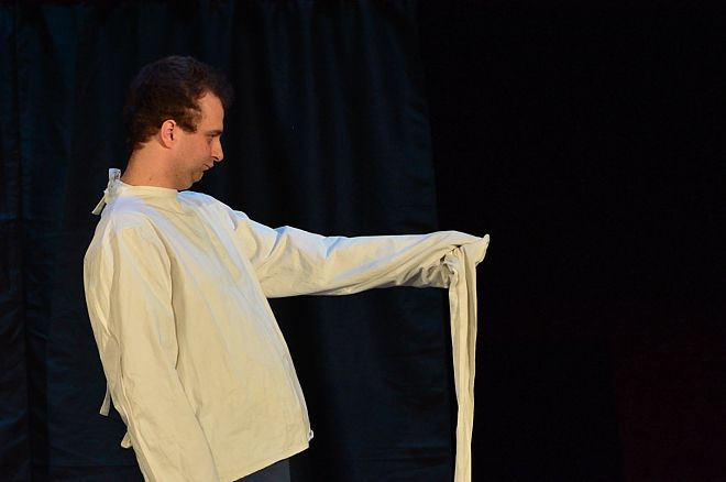 Marcin Wojciech podczas występu w DK Chwałowice