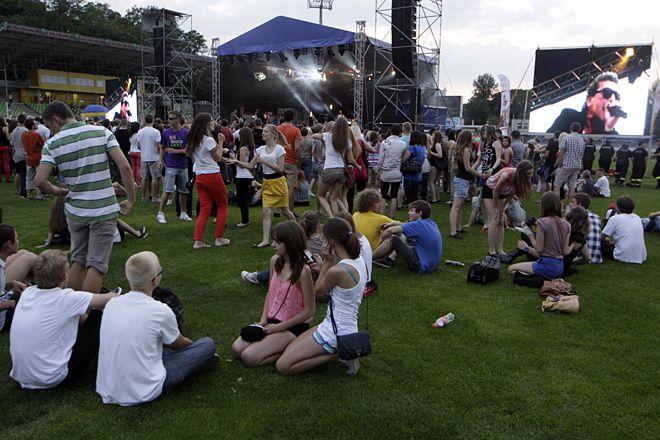 Dopiero dwukrotnie koncert Dni Rybnika odbył się na stadionie