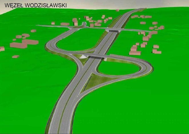 Wizualizacja węzła na skrzyżowaniu z ulicą Wodzisławską