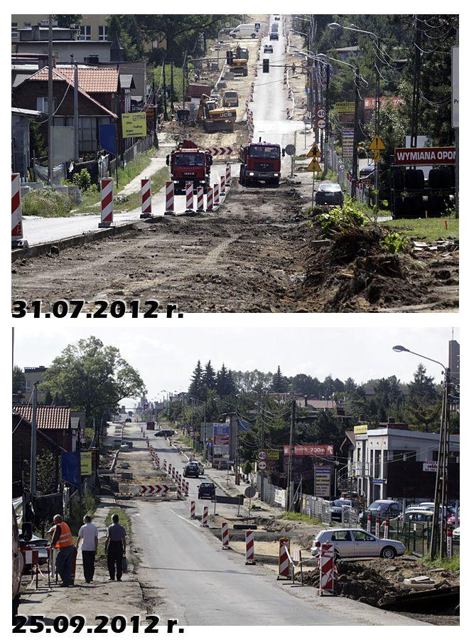 Fragment naszego raportu fotograficzngo z remontu Wodzisławskiej