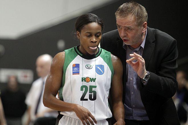 Leah Metcalf i trener Kazimierz Mikołajec w 2012 roku