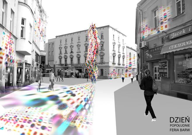 Jedna z wizualizacji rewitalizacji ulicy Sobieskiego zaprojektowana przez pracownię Top Project.