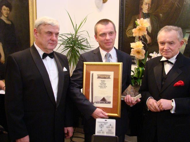 Prezydent Rybnika Adam Fudali, dyrektor KWK Chwałowice - Marek Budziński i prezes Izby Przemysłowo-Handlowej Andrzej Żylak