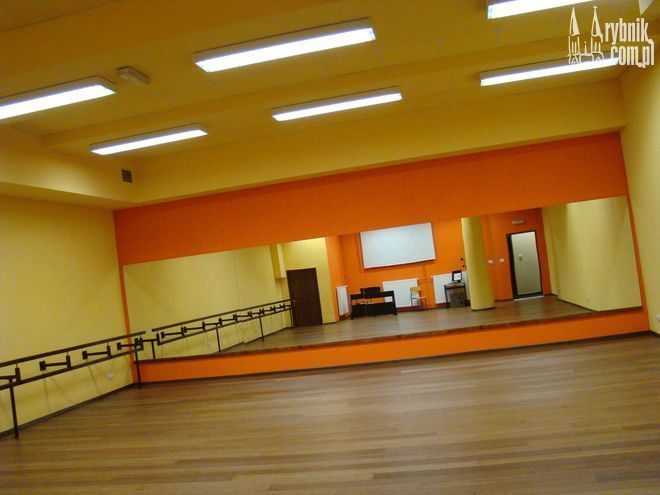 Na zdjęciu sala baletowa