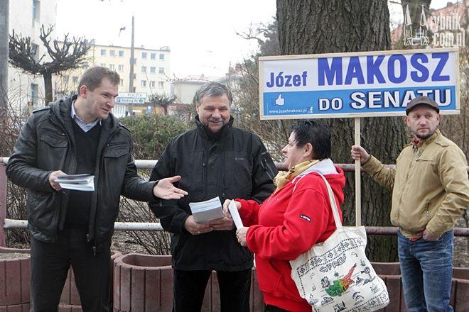 Marek Jędrośka i Stanisław Stajer promują kandydaturę Józefa Makosza