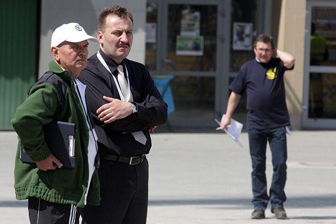 Trener Jan Grabowski i prezes Krzysztof Mrozek