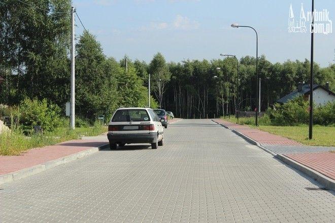 Nowo wybudowana odnoga ulicy Łącznej w Orzepowicach