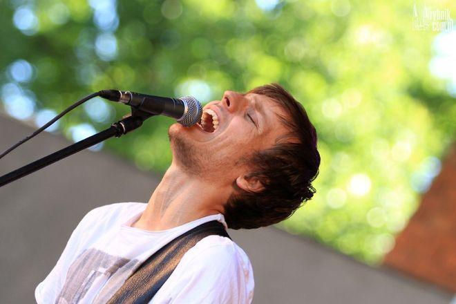 Marek Piowczyk w czasie Rybnik Blues Festival