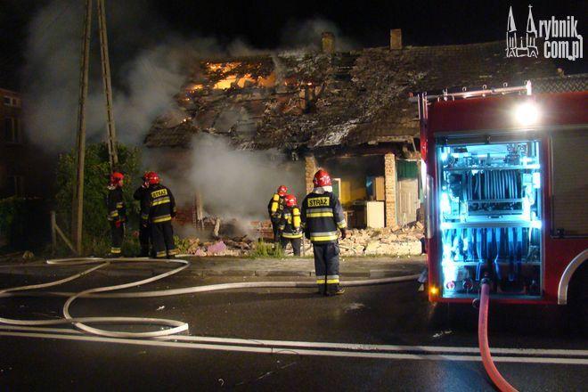 Wybuch gazu w domu jednorodzinnym w Szczerbicach