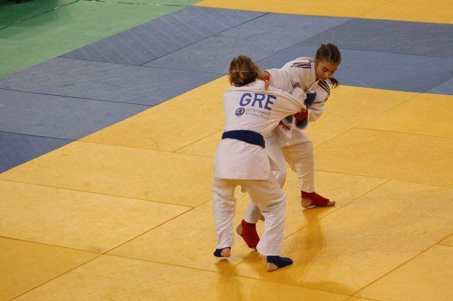 Paulina Szumska podczas walki w Atenach