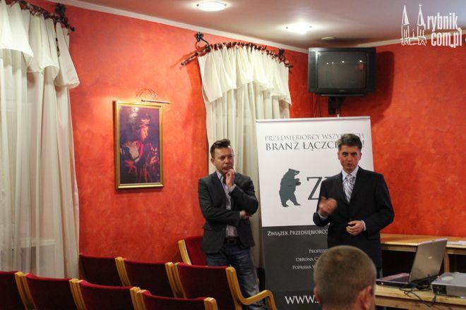 Tomasz Pruszczyński i Jarosław Cieciura w czasie spotkania ZPP w Rybniku