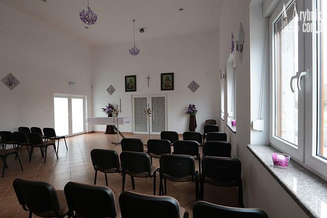 Sala pożegnań w centrum pogrzebowym Adama Rosoła