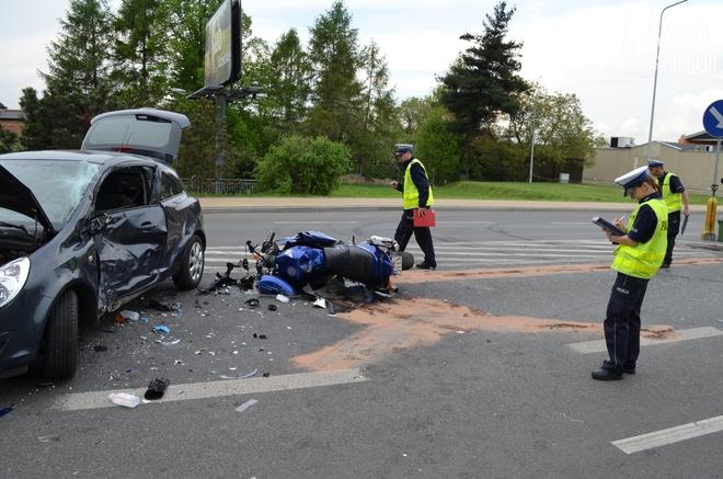 Przyczyną poniedziałkowego wypadku na ul. Wodzisławskiej prawdopodobnie było złamanie przepisów