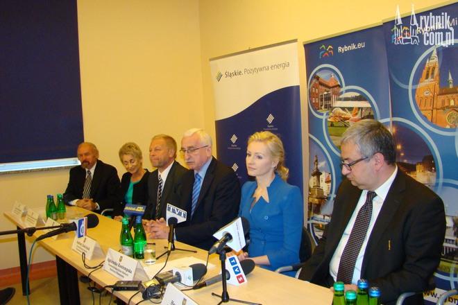 Konferencja prasowa z przedstawicielami sejmiku województwa śląskiego