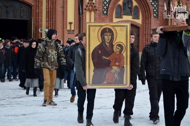 W ubiegłym roku przez Rybnik przeszła peregrynacja Krzyża Światowych Dni Młodzieży oraz Ikony Matki Bożej Salus Populi Romani