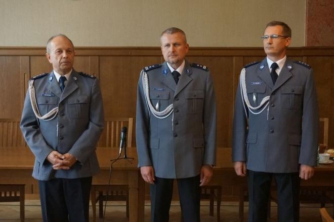 Nadkom. Mirosław Jordan (pierwszy z prawej) został Zastępcą Komendanta Miejskiego Policji w Rybniku