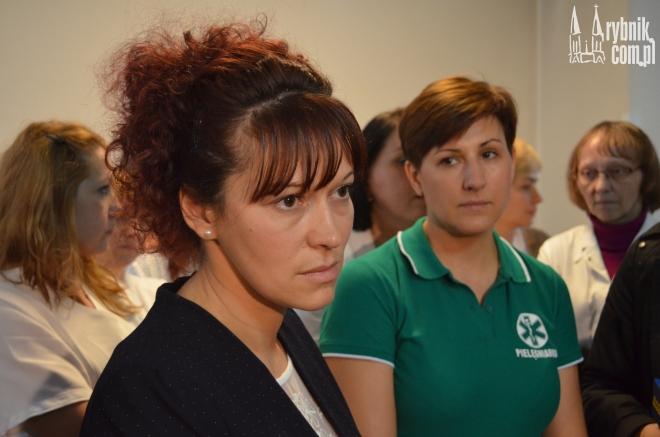 Na zdjęciu dyrektor szpitala - Bożena Mocha-Dziechciarz i przewodnicząca związku - Wiesława Frankowska