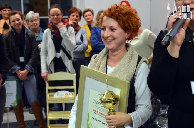Na zdjęciu: Małgorzata Partyka - Mistrz Regionu w zawodach florystycznych