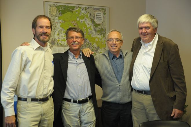Zenon Keller (drugi od prawej) z Holendrami podczas czerwcowej wizyty