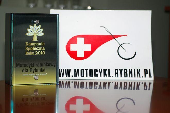 """""""Motocykl ratowniczy dla Rybnika"""" najlepszą inicjatywą lokalną w Polsce"""
