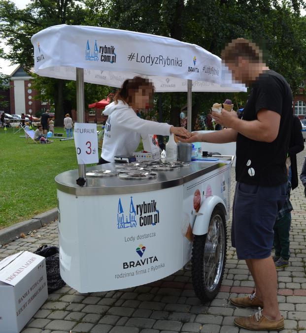 Rower do sprzedaży lodów