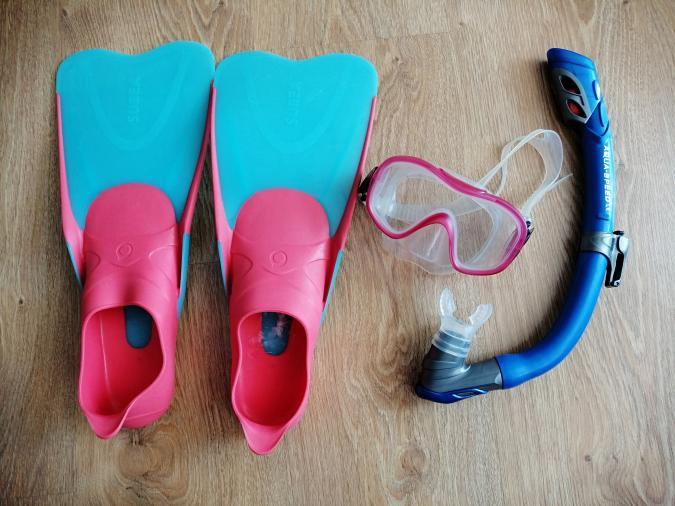 Maska do nurkowania, zestaw do snorkelingu dla dziecka