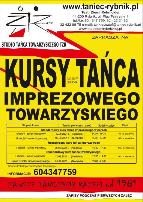 Kursy Tańca Imprezowego i Towarzyskiego w Rybniku i Pszowie