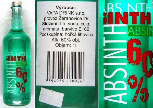Tak wygląda butelka czeskiego alkoholu, w którym znaleziono metanol