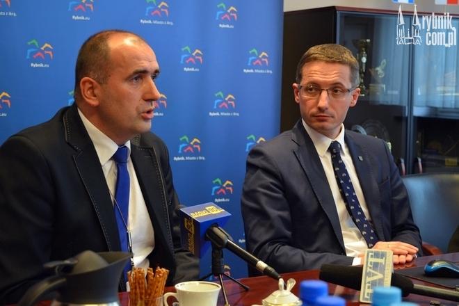 Naczelnik Wydziału Dróg - Jacek Hawel i prezydent Rybnika - Piotr Kuczera