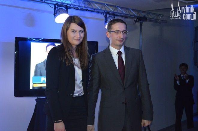 Na zdjęciu Piotr Kuczera z żoną Patrycją