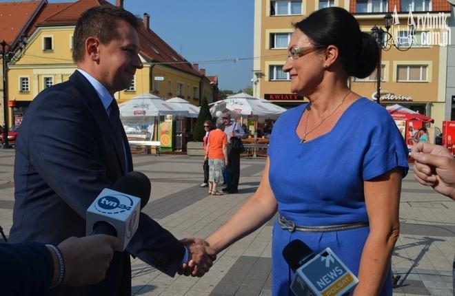 Marek Krząkała pogratulował Izabeli Kloc zwycięstwa w wyborach do Senatu