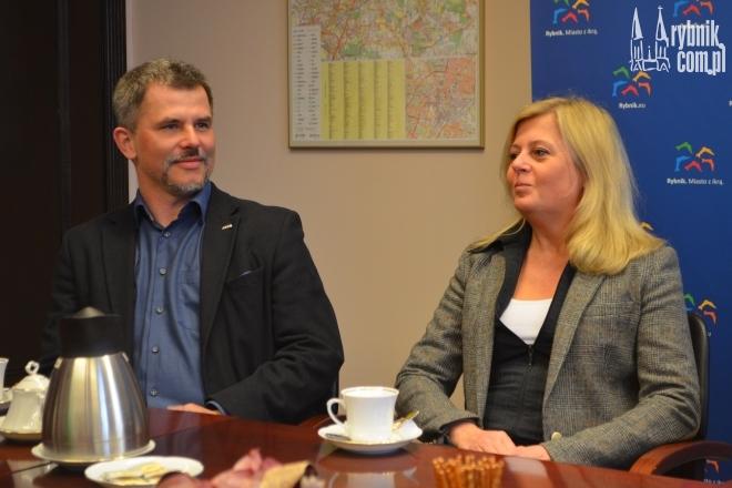 Na zdjęciu: arch. Piotr Buśko i arch. Małgorzata Pilinkiewicz