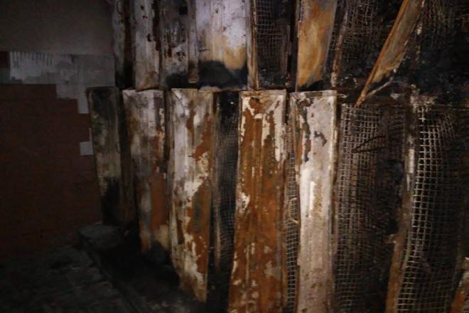 Tak obecnie wygląda szatnia w KWK Jankowice, gdzie doszło do pożaru