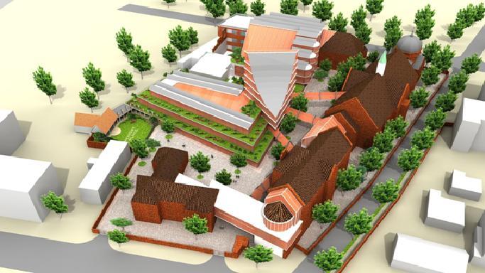 Wizualizacja nowej koncepcji zagospodarowania kompleksu szpitalnego ''Juliusz''