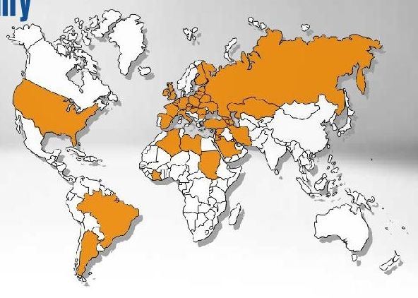 Mapa obszaru funkcjonowania firmy Ice Group mówi sama za siebie: dla eksporterów zamknięcie przestrzeni powietrznej to spory problem.