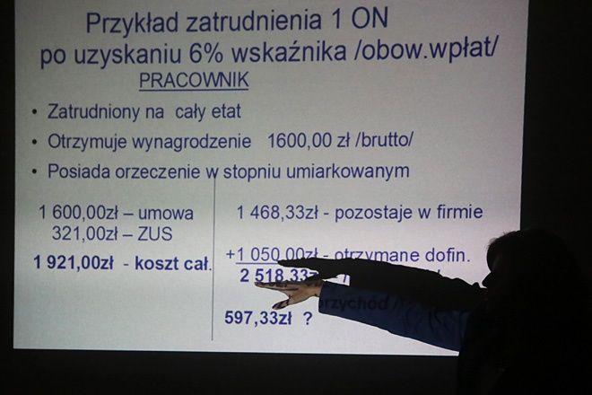 Ewa Sznabel podczas prezentacji