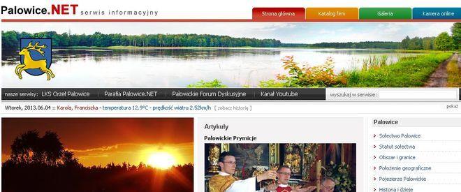 """Serwis internetowy Palowic zwyciężył w wojewódzkim etapie ogólnopolskiego konkursu pt. """"Sołectw@ w sieci"""""""
