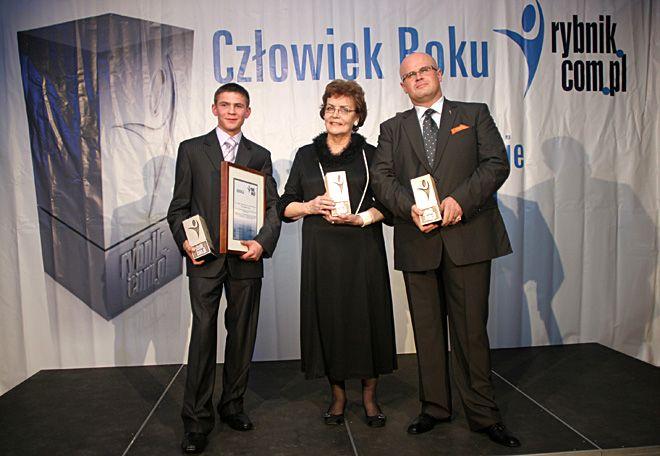 Laureaci ubiegłorocznej edycji: Mateusz Mazik, Kazimiera Drewniok i Arkadiusz Geratowski