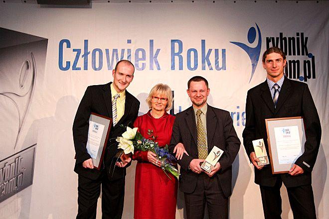 Tegoroczni laureaci: Tomasz ''Grubson'' Iwanca, Jadwiga Demczuk-Bronowska, Grzegorz Goik, Mariusz Prudel